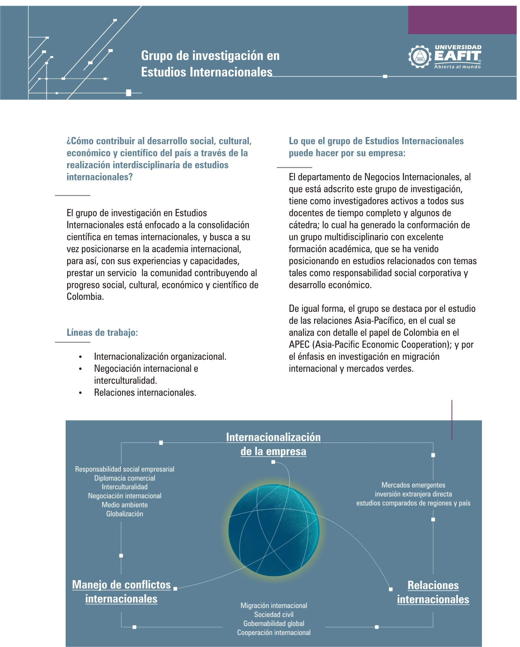 Descripción del Grupo de Investigación en Estudios Internacionales
